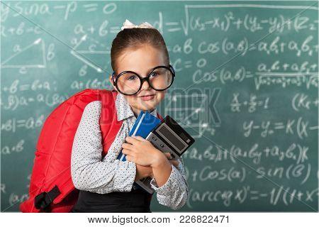 Girl Little School Book Schoolgirl Elementary Age Girl Beauty