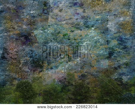 Muted color abstract composition. 3D rendering