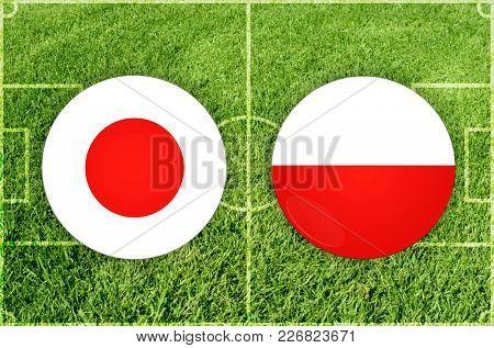 Illustration for Football match Japan vs Poland