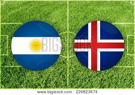 Illustration for Football match Argentina vs Iceland
