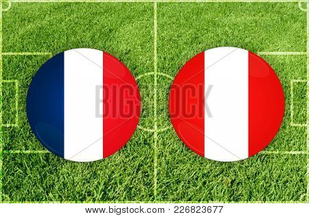 Illustration for Football match France vs Peru