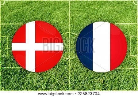 Illustration for Football match Denmark vs France