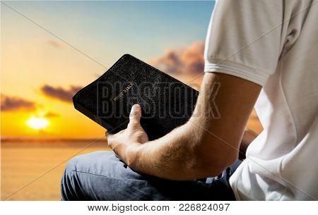Man Book Bible Background Paper Human New