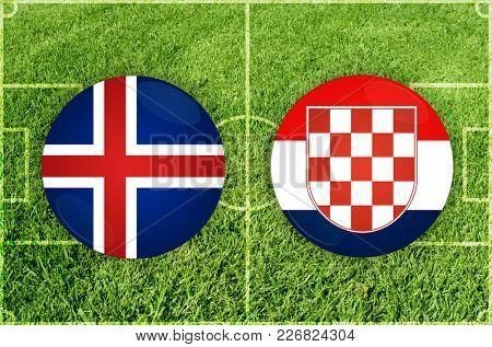 Illustration for Football match Iceland vs Croatia