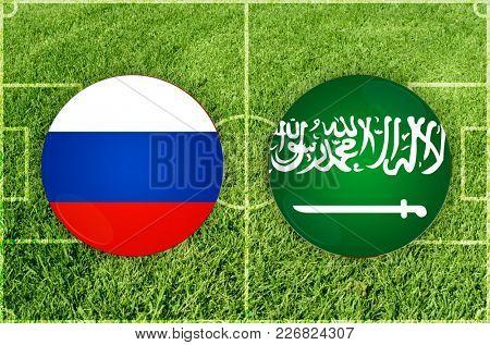Illustration for Football match Russia vs Saudi Arabia