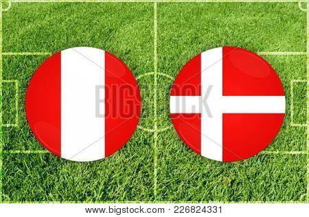 Illustration for Football match Peru vs Denmark