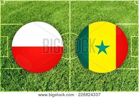 Illustration for Football match Poland vs Senegal