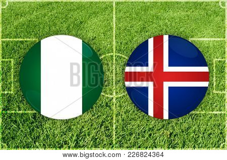 Illustration for Football match Nigeria vs Iceland