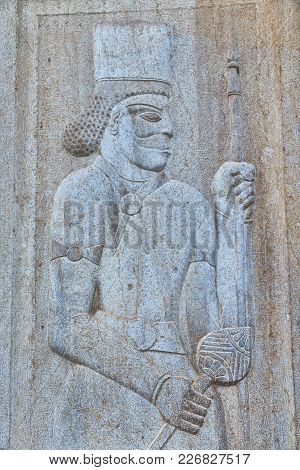 The Bas Relief Of An Antique Warrior