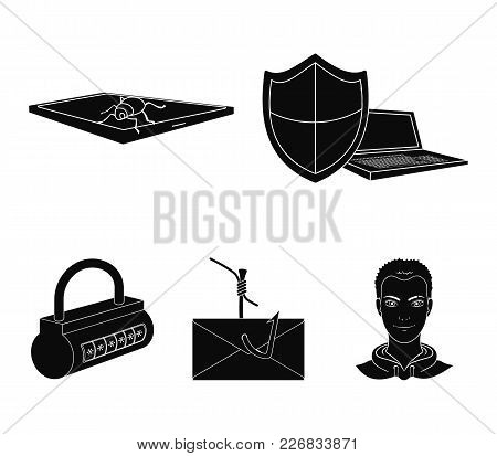 Hacker, System, Connection .hackers And Hacking Set Collection Icons In Black Style Vector Symbol St