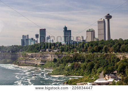 The Niagara Falls In Ontario In Canada