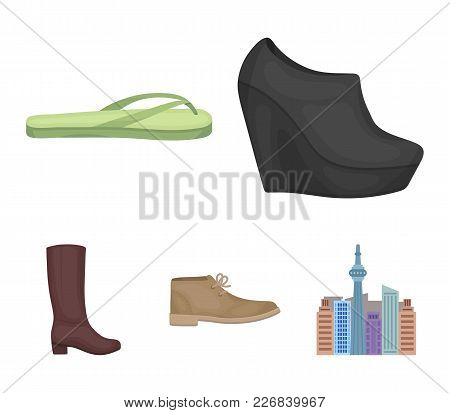Autumn Black Shoes On A High Platform, Flip-flops Green For Relaxation, Sandy Men's Autumn Shoes, Hi