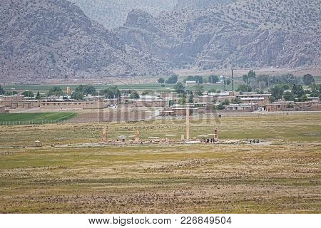 Archaeological Site Of The Old City Pasargadae In Iran.