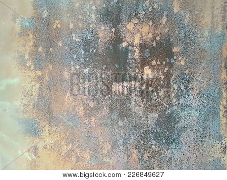 Abstract Grunge Texture Gentle Shades Of Blue, Gray And Yellow Colors Of Indeterminate Spots Blend T