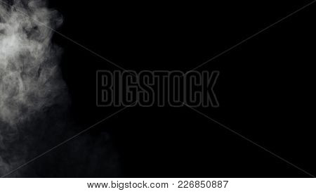 Abstract White Smoke From An Electronic Cigarette. Couples. Design Elements