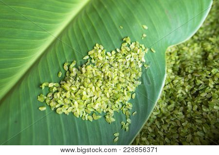 Green Rice Flakes ( Com In Vietnamese). Com Is Freshly Harvested Sticky (glutinous/sweet) Rice That'