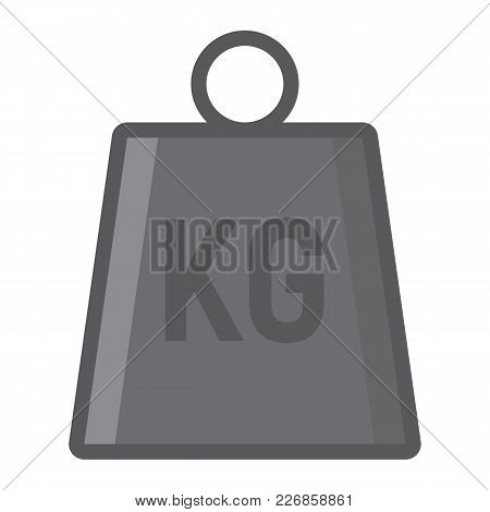 Weight Symbol Filled Outline Icon, Logistic And Delivery, Kilogram Sign Vector Graphics, A Colorful