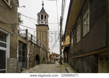 The Sveti Sveti Kiril I Metodi Church Bell Tower In The Old Town Of Tarnovo.