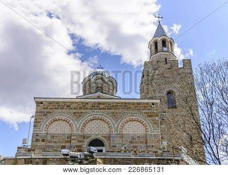 Tsarevets Church Close Up In Veliko Tarnovo, Bulgaria