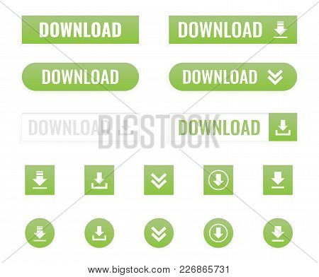 Download Web Button In Flat, Vector Illustration