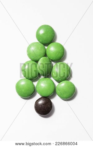 Chocolate Christmas Tree With Color Coated Chocolates