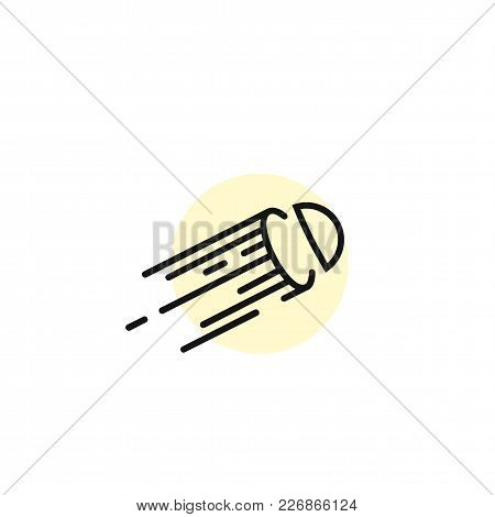 Simple Form Of Line Art On White Background With Stripes Vector Illustration Design.