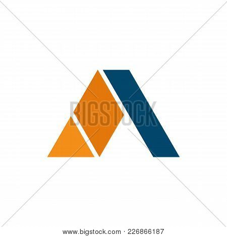 Folding Pyramid Letter A Initial Symbol Vector Illustration Graphic Design