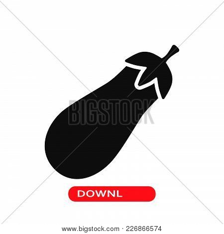 Eggplant Icon Vector In Modern Flat Style For Web, Graphic And Mobile Design. Eggplant Icon Vector I