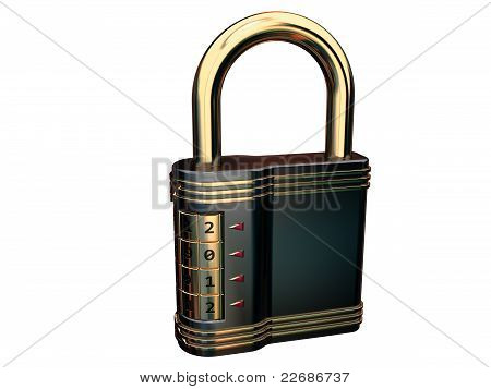 Closed combination padlock