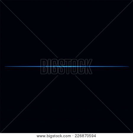 Abstract Light Lines On Black Background Vector Illustration.