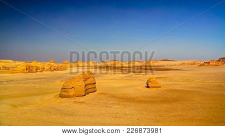 Nature Sculpture In Wadi Al-hitan Aka Whales Valley, Egypt