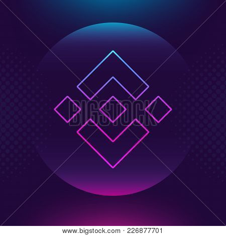 Binance Coin Bnb Vector Outline Icon. Cryptocurrency, E-currency, Payment Crypto Currency, Blockchai