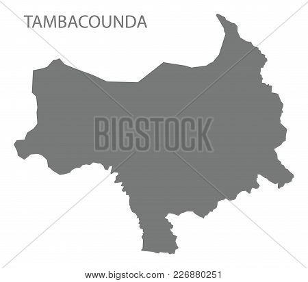 Tambacounda Map Of Senegal Grey Illustration Silhouette Shape