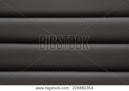 Black Leather With Seam Pattern