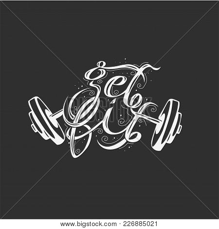 Minimal Logo Of Broken Weightlifting On Black Background Vector Illustration Design.