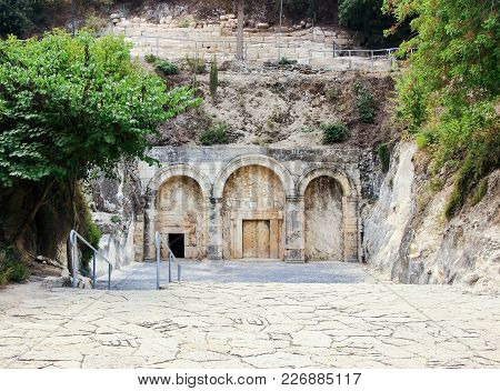 Entrance  To The Cave Of Rabbi Yehuda Hanassi To The Necropolis In The Beit Shearim National Park In