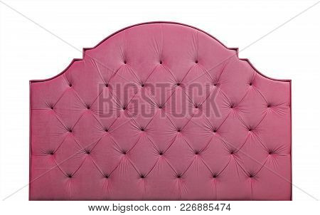 Shaped Pastel Purple Pink Color Soft Velvet Fabric Capitone Bed Headboard Of Chesterfiels Style Sofa