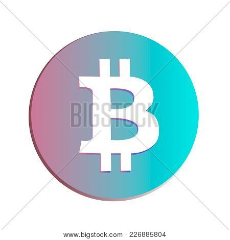 Bitcoin Sign Icon For Internet Money. Cryptocurrency E-commerce Concept
