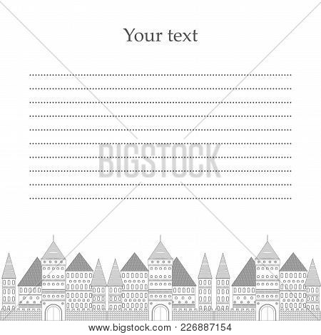 Vector Illustration Villa. Place For Your Text