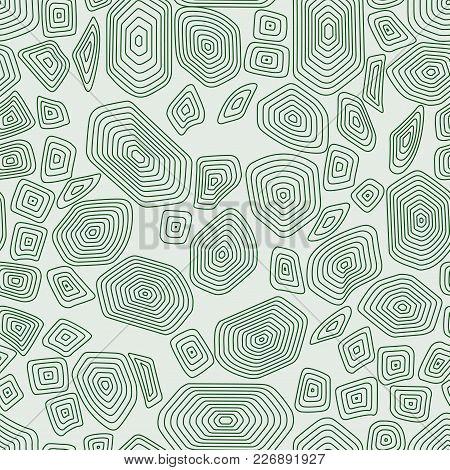 Turtle Seamless Pattern Background. Green Tortoise Vector Illustration. Terrapin Camouflage Wallpape