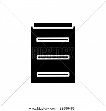 Monochrome Medical Report Icon In Flat Style. Isolated Medical Report Icon For Use In Variety Of Pro