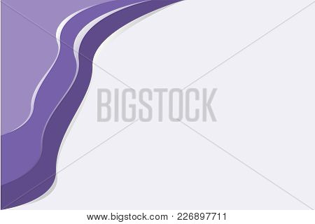 Overlapping Layers Of Ultra Violet Pattern, The Color Of The Year 2018, On Light Purple Background -