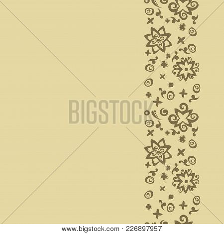 Seamless Pattern Background Card For The Holiday. Card For The Holiday Vector. Seamless Pattern Flow
