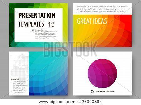 Set Of Business Templates For Presentation Slides. Easy Editable Layouts, Vector Illustration. Color