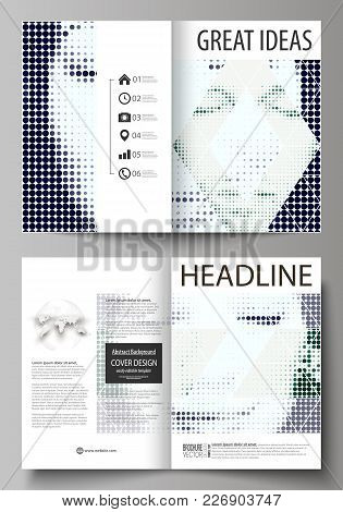 Business Templates For Bi Fold Brochure, Magazine, Flyer, Booklet Or Annual Report. Cover Design Tem