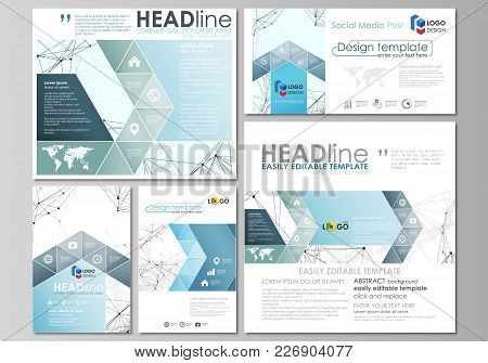 Social Media Posts Set. Business Templates. Easy Editable Abstract Flat Design Template, Vector Layo