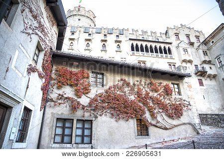 Buonconsiglio Castle. Historic Building Of Trento In Italy.