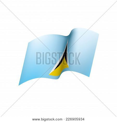 Saint Lucia Flag, Vector Illustration On A White Background