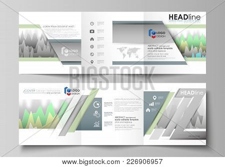 The Minimalistic Vector Illustration Of The Editable Layout. Two Modern Creative Covers Design Templ