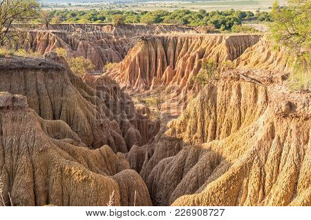 An Erosion Canyon At The Koranna Mountain Near Excelsior In The Free State Province Of South Africa